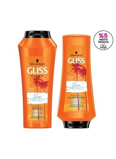 Gliss Gliss Sun Protect Güneşe Karşı Koruyucu Set Şampuan 500 Ml + Saç Kremi 360 Ml Renksiz